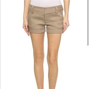Alice and Olivia khaki cady shorts - size 2